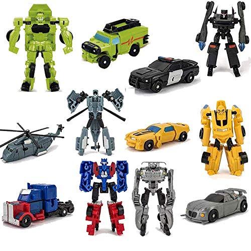 6 PCS Car Robot Toys, Mini Action Figure, Deformation Robot for Kids 5~12