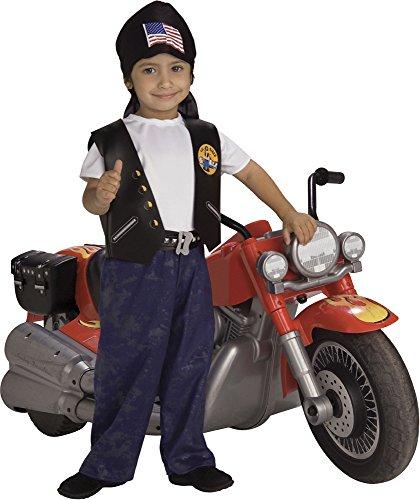 Rubie's - Disfraz de Motorista para nios, infantil talla 1-2 aos (885629-T)