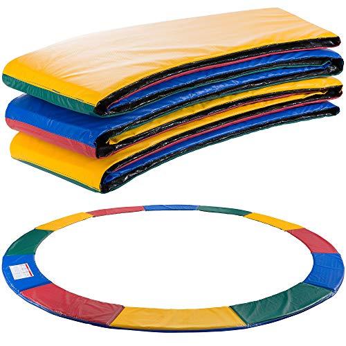 Arebos Cubierta de borde de cama elástica protección de muelle |183, 244,305,366,396,427,457 o 487 cm | de PVC y PE | resistente al desgarro | Accesorios para trampolines de fitness |Multicolor 244 cm