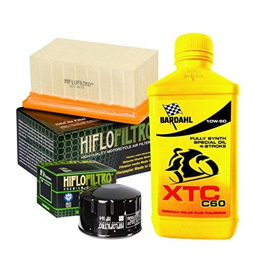 Kit tagliando Bardahl XTC C60 10W50 filtro olio aria B M W R 1200 GS/R/RT/Nine T