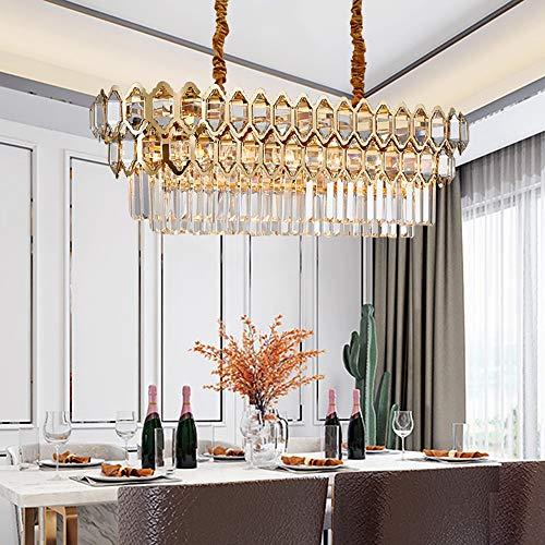 現代の豪華な金の金属の水晶シャンデリアの長方形の導かれた居間の寝室のレストランのホテルのバーの天井灯 装飾ライト