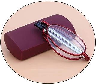 نظارات قراءة قابلة للطي مضادة للذكر ضوء الأزرق HD مريحة الإناث المحمولة أزياء مكافحة التعب القديمة نظارات خفيفة بسيطة (الل...