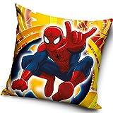 Funda para cojín, 40x 40cm, relleno no incluido, varios diseños infantiles a elegir, 100% poliéster, Spiderman, 40 x 40cm (16' x 16')