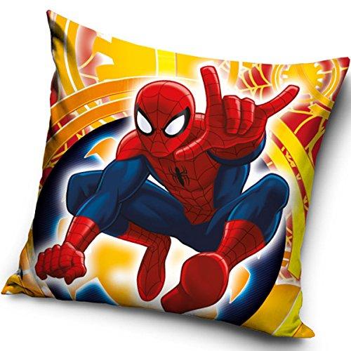 Kissenbezug für Kinderkissen, Motive: Spiderman, Frozen, Minnie Maus, Cars, Pu der Bär, 40x 40cm, ohne Kissen, 100 % Polyester, spiderman, 40 x 40cm (16