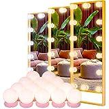 Led Spiegelleuchte POVO Hollywood Stil 14 Dimmbar LED Schminklicht für Kosmetikspiegel Schminktisch...