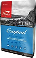 With 38% richly nourishing protein and 85% quality animal ingredients, ORIJEN nourishes dogs of all breeds and life stages according to their evolutionary and biological needs 2/3 of meat is FRESH (refrigerated, no preservatives) or RAW (flash-frozen...