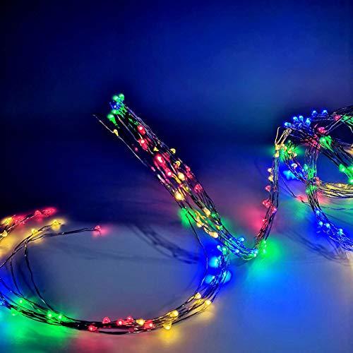 LED Lichterschlauch 8 Modi Fernbedienbar 14m 120 LEDs RGB Wasserdicht IP68 LED Strip Lichterkette Schlauch Innen/Außen Garten Weihnachten