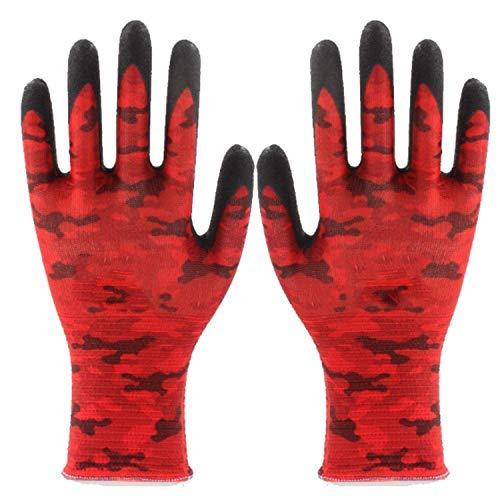 SGJFZD Guantes de jardinería y trabajo con revestimiento de nitrilo, guantes de jardín suaves para hombres y mujeres, los mejores regalos de jardín y herramientas para jardinero guantes impermeables