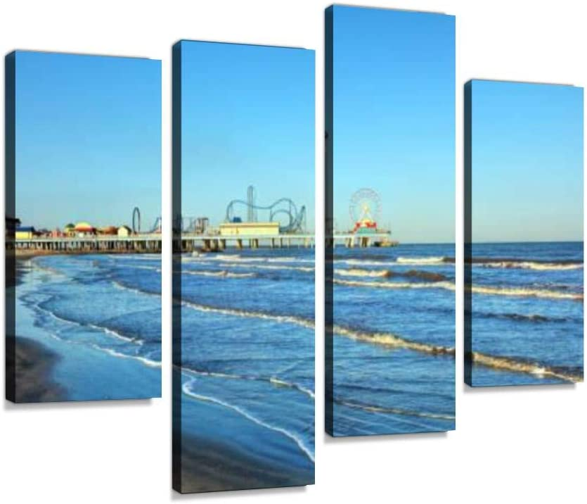 Galveston Texas Canvas Wall Art Artwor Modern Max 60% OFF Hanging Discount is also underway Paintings