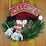ZHongWei - Corona de Navidad Corona de Navidad, Decoraciones de Navidad, arreglo de la Escena de Navidad, Puerta Colgando Garland, decoración de Interiores Arboles de Navidad