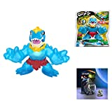 TLC Boys Girls Kids Fun Playtime Heroes of Goo JIT Zu (1) Dinogoo Tyro Power Action Figure Stretches Up to 3X Original Size, Lights Up, and Makes Sounds with (1) Starlink Kharl Zeon Pilot Figure