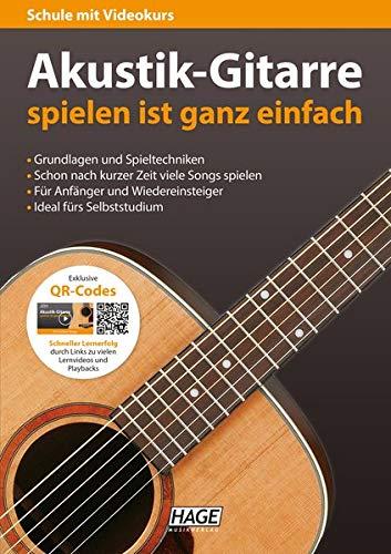 Akustik-Gitarre spielen ist ganz einfach: Schule mit Videokurs