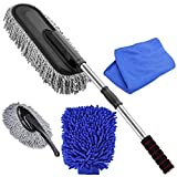 Car Duster -The Best Microfiber Multipurpose Duster -Home Interior Use-Professional Detailing Tool-Comfort Handle
