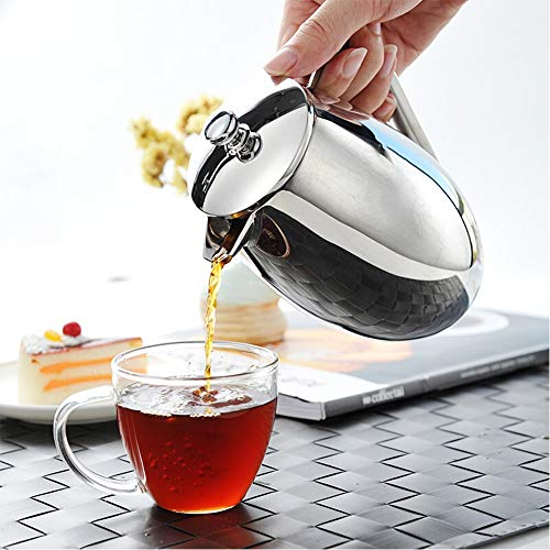 Cheapest Prices! French Press Coffee Maker Household Stainless Steel Coffee Pot French Press Pot Fre...