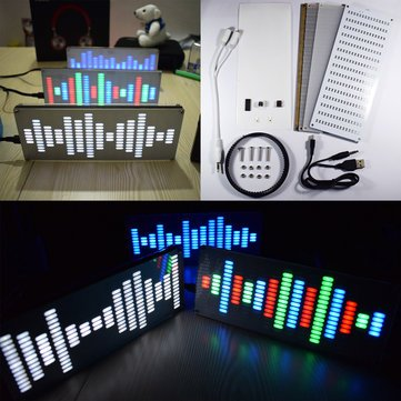 Affordable Geekcreit DIY Big Size Touch Control 225 Segment LED Digital Equalizer Music Spectrum Sound Waves Kit