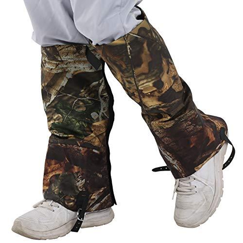 2 Teile/Satz Outdoor wasserdichte Schnee Gamaschen Camouflage Hohe Legging Covers Boote Für CampingDied Blätter Camouflage (XL)