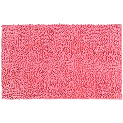 Carpet Erker Mat zacht en comfortabel Maximum absorberende Non-Slip Dik Machine Wash Gemakkelijker te droog for de Bathroom Floor Rug Deurmat Buiten Extra Duurzaam (Color : Pink, Size : 60 * 90cm)