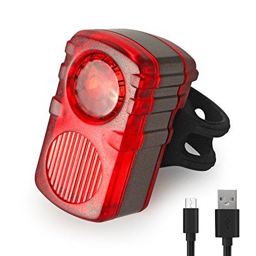 Amostik USB Rechargeable Vélo Feu arrière, Super Bright 2 LED Lumière de vélo, Cyclisme, lumière s'installe sur n'importe Quel vélos, Casques ou Sacs à Dos