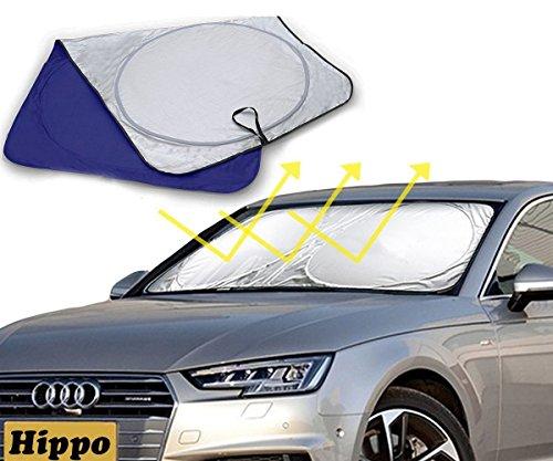 Hippo Sonnenschutz, Sonnenblende mit Saugnapf für Autoscheiben, Frontscheiben, Seitenscheiben und Autofenster von PKW und SUV, UV-Schutz, 160*90cm