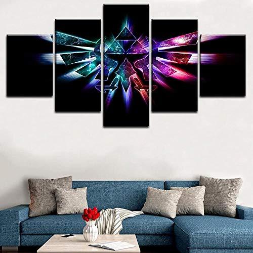 Yxsnow 5 Leinwanddrucke Rahmen Wandbilder Die Legende von Zelda Twilight Princess Game Leinwandbilder Dekoartikel Poster & Kunstdrucke Drucke auf Leinwand