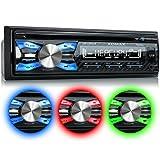 XOMAX XM-CDB619 Autoradio mit CD-Player + Bluetooth-Freisprecheinrichtung & Musikwiedergabe + 3 Farben einstellbar (Rot, Blau, Grün) + USB-Anschluss (bis 128 GB) & SD-Kartenslot (bis 128...