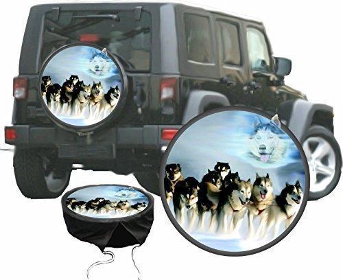 DSF Bezug Reserverad Abdeckung Husky Schlitten Hund für Ihren Jeep