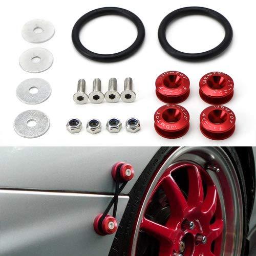 Amazon.com: iJDMTOY Universal Fit Red Finish JDM Quick Release Fastener Kit For Car Bumper Trunk Fender Hatch Lid: Automotive