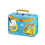 Bic Kids - Valigia da viaggio Memory - Matite colorate, gesso, penne pennarelli, 32 pezzi, colori assortiti, confezione da 64