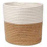 Cesto in corda di cotone intrecciato per vasi di fiori, artigianato, giocattoli, decorazione rustica per la casa
