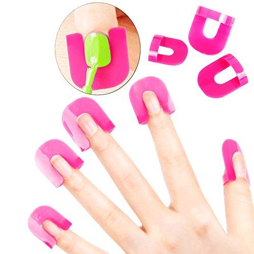 Kit profesional de protección de uñas, de plástico y reutilizables para evitar que la laca de uñas en spray ensucie los dedos, de Vzom.