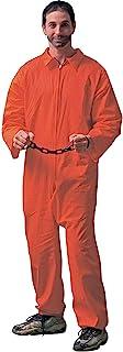 Forum Novelties Men's Adult Jailbird Costume, Orange, Standard