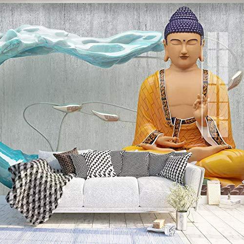 WGBHQ Buddhistische Statuen, Buddhistische Figuren, Religiöse Figuren Tapete Restaurant Cafe Wanddekoration Poster Club Ktv Bar Wand Foto Gym Büro Wandbild Wandkunst Dekoration(B)300×(H)210cm