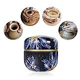 TOPQSC Mini Macchina per Ceramica 1500 RPM Macchina Ceramica Elettrica Principianti Ruota Ceramica Elettrica Strumento per Argilla Fai-da-Te con Vassoio per Adulti Bambini Ceramica Arte (Blu Scuro)