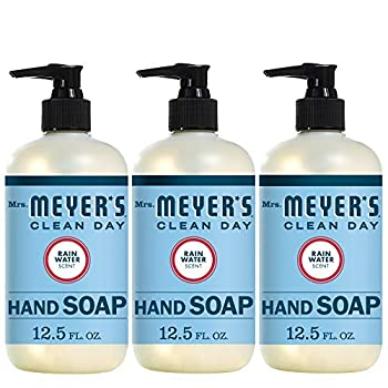 Mrs Meyer s Clean Day Liquid Hand Soap Cruelty Free and Biodegradable Hand Wash Made with Essential Oils Rain Water Scent 12.5 oz - Pack of 3