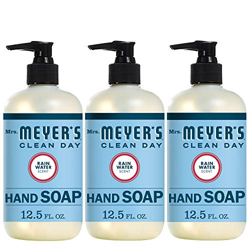 Mrs. Meyer's Clean Day Liquid Hand Soap, Cruelty Free and Biodegradable Formula, Rhubarb Scent, 12.5 oz- Pack of 3