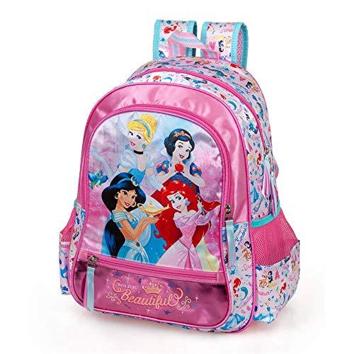INACIO Disney Princess Cinderella Jasmine Snow White Mochila Escolar Ariel para Trolley PORTAZAINO Chica CM.41x28x18-10810