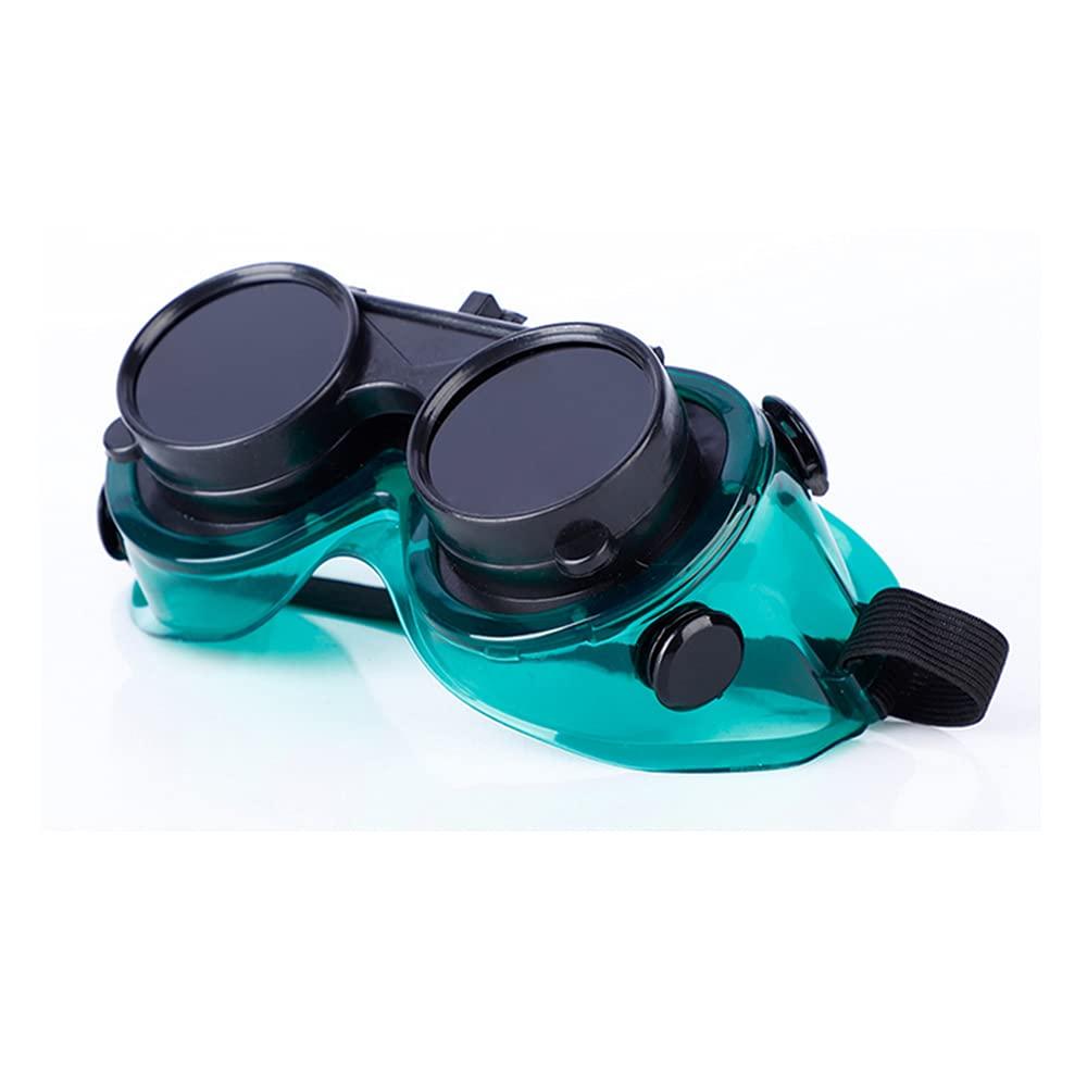 Gafas para soldar Gafas de seguridad Protección para los ojos Protección para soldador diadema ajustable Protección contra el deslumbramiento contra golpes Gafas protectoras Accesorios para soldar
