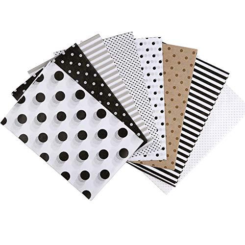 JUN - H - Papel decorativo para álbum de recortes, ultrafino, para hacer tarjetas, decoración de álbumes de recortes, manualidades (160 hojas)