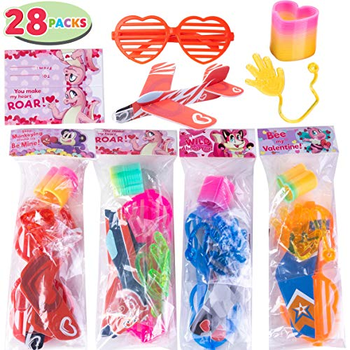 Great Deal! JOYIN 28 Pack Kids Valentines Day Gift Assorted Novelty Toy Set for Valentine's Classroo...