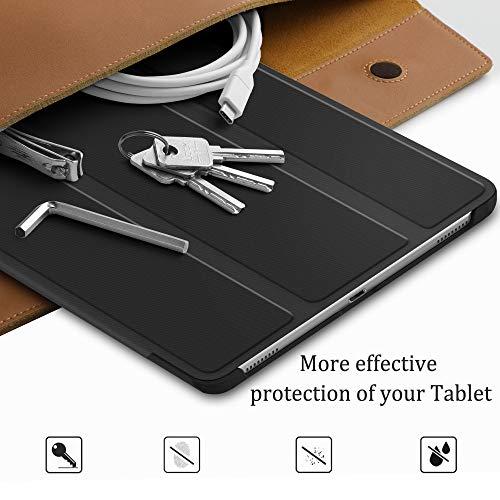 IVSO für Samsung Galaxy Tab A 10.1 2019 T510/T515 Hülle, Ultra Slim PU Leder mit Standfunktion Schutzhülle, Samsung Galaxy Tab A T510/ T515 10.1 Zoll 2019 Hülle Case, Schwarz