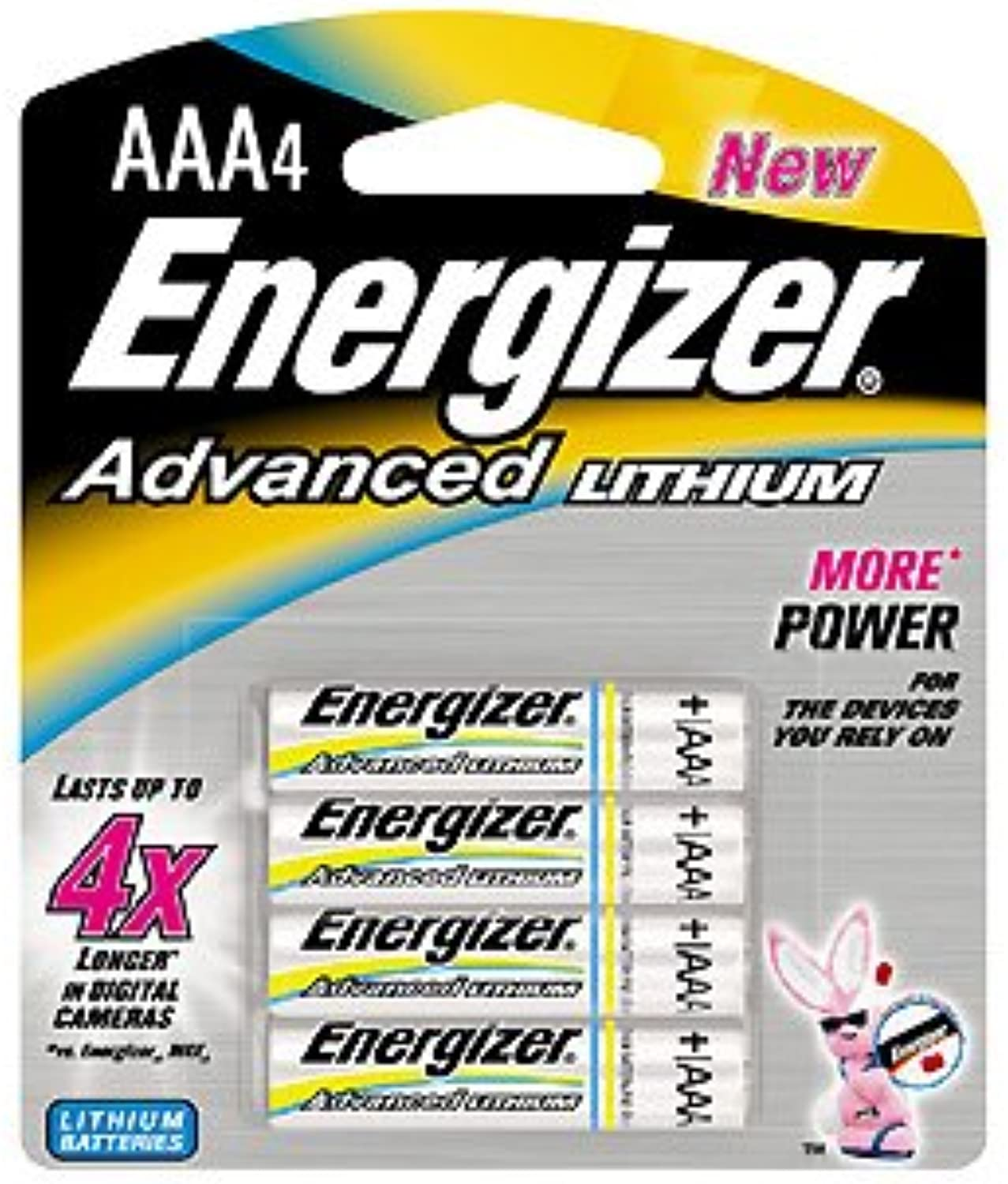 Energizer-New Advanced Lithium Aaa Battery Per 4 Leak Resistant Construction 10 Year Storage Life