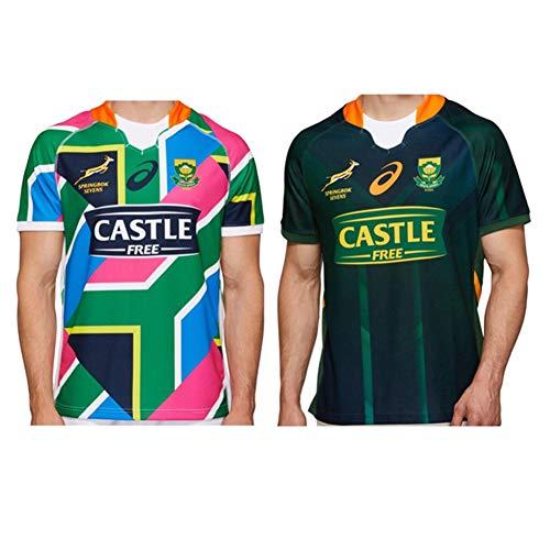 JUNBABY 2020 Südafrika Sevens Rugby Trikot, Heim und Auswärts Rugby T-Shirt, Athleten Spiel Shirt-HomeCourt-XXL