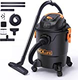 TACKLIFE 5 Gallon Wet Dry Vacuum 5.5 Peak HP, 1000W, 3 in 1 Shop Vac with Dry Suction, Wet Suction and Blowing, Wide Cleaning Range, Suitable for Home, Garden, Garage, Workshop or Vehicle