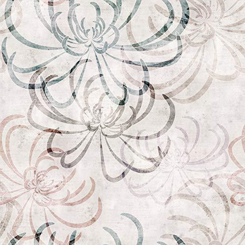 Papel de Parede Rolo Adesivo Tendenci Estampa Floral - I (5 Metros, Floral I A)