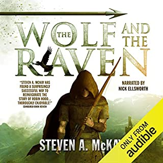 The Wolf and the Raven audiobook cover art
