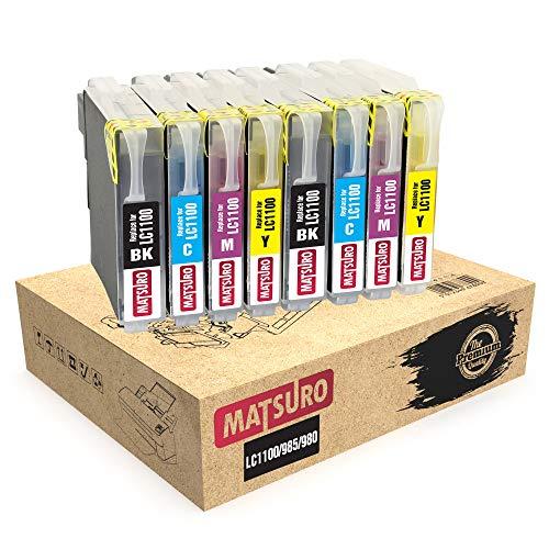 Matsuro Original | Compatible Cartuchos de Tinta Reemplazo para Brother LC1100 LC985 (2 Sets)