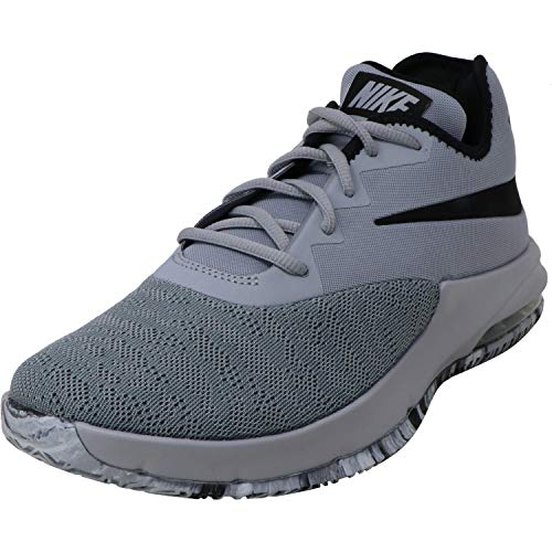 Nike Herren Air Max Infuriate Iii Low Basketballschuhe, Mehrfarbig (Wolf Grey/Black/Cool Grey 4), 41 EU