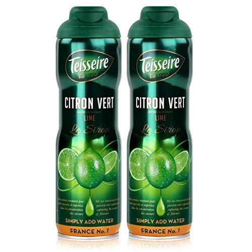 Teisseire Getränke-Sirup Lime/Limette 600ml - Sirup der genauso schmeckt wie die Frucht (2er Pack)