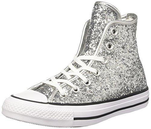 Converse 556817C, Scarpe da Ginnastica Basse Donna, Multicolore (Pure Silver/White/Black 040), 38 EU