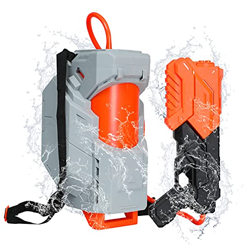 Tinleon Water Gun with Backpack Tank,Squirt Guns for Kid Adult 2800cc,Long Range Water Blaster High Capacity